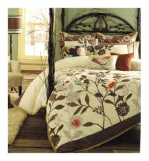 bird jacquard king duvet cover daintreebirdbrown leaves blue orangeking duvet cover 3pc set pottery barn painterly