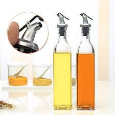 fullsize of sweet glass olive oil vinegar dispenser ml gravy boat pourer cooking winecondiment storage bottle