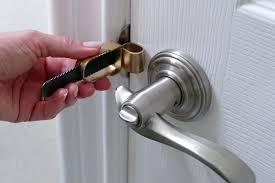 how to unlock a bedroom door half open of