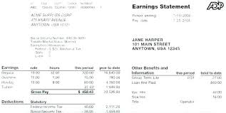 Paycheck Sample Template