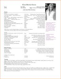 Resume Examples For Actors Actor Resume Sample Template