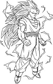 Coloriage Sangoku Super Sayen Imprimer Sur Coloriages Info
