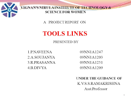 Science Project Report Delectable VIGNAN'S NIRULA INSTITUTE OF TECHNOLOGY SCIENCE FOR WOMEN TOOLS