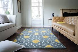 brighton grey and yellow rug