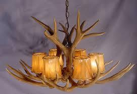 image of modern real antler chandelier