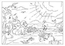 Creation Coloring Pages Creation Catholic Coloring Page Kids