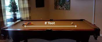 recommended pool snooker table sizes