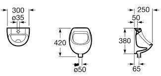 <b>Писсуар подвесной Roca Mini</b> A353145000 Roca: купить, цена ...