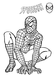 Small Picture Printable Spiderman Coloring Pages for Kids for Free PDF JPEG
