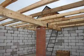 How to build a flat roof frame
