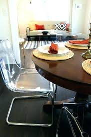 clear acrylic dining table round