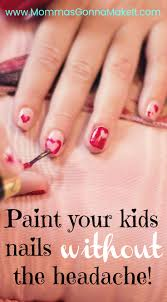 Painting Kids Nails without the Headache - Momma's Gonna Make It