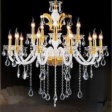 chandelier gold modern 12 lights white modern chandelier lighting crystal gold