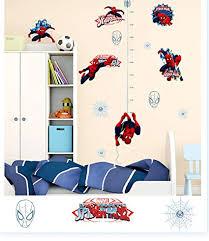 Amazon Com Ikeelife Spiderman Cartoon Marvels Hero Height