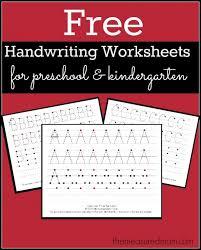 Writing Practice Worksheet Free Printable Handwriting Worksheets For Preschool