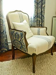 upholstered chair after