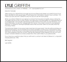 How To Write A Termination Letter To Employee Employment Contract Termination Letter Example Letter Samples