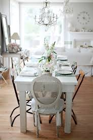 Living Room:Shabby Chic Decor For Dining Room With Round Back Chair Also  Luxury Glass