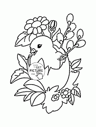 Easter Chick Coloring Page For Kids