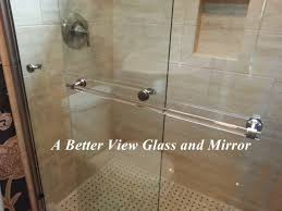 towel bars for glass shower panels and glass shower doors