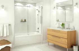 elegant tub with glass shower door showers glass shower doors for baths inspiring tub shower sliding