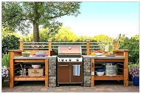 outdoor food prep station grill cooking snacks plans