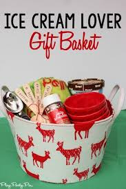 this is such a fun gift basket idea for someone who loves ice cream and