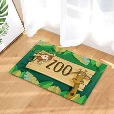 lovely monkey giraffe door mat rug bathroom carpet bedtoom bath mats non slip