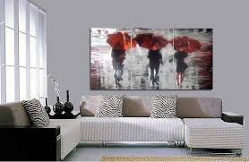 painting large metal wall art decor rainy day three people use red umbrella walking on the on red umbrella metal wall art with wall art top ten gallery large metal wall art large metal outdoor