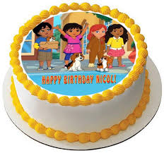 Dora And Friends 4 Edible Birthday Cake Or Cupcake Topper Edible