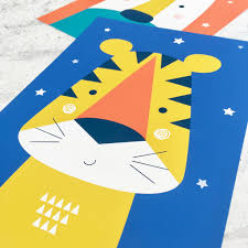animal nursery wall art trio bright and modern baby