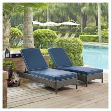 Palm Harbor Outdoor Wicker Chaise Lounge Weathered Gray