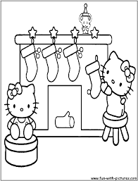 Small Picture Coloring Pages Hello Kitty Christmas Coloring Page Coloring Pages