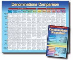 Chart Of Different Christian Denominations Denominations Comparison Pamphlet Pamphlet Christian Supply