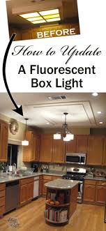 fluorescent lighting for kitchens. How To Update A Fluorescent Kitchen Box Light Lighting For Kitchens