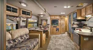 Travel trailers interior Modern 2012 Model 35rlds Travel Trailer With Horizon Décor Looking Towards The Bedroom Interior Features Roaming Times 2012 Evergreen Everlite Travel Trailer