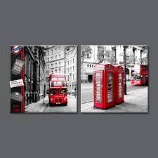 aliexpress com buy 2 panel modern london city canvas art
