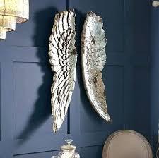 angel wings wall art silver metal decor liverpool