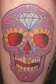 Irish Street Tattoo Mexican Day Of The Dead Skull Irish St Tattoo
