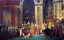 Наполеон i Википедия Коронация Наполеона в соборе Нотр Дам 2 декабря 1804 Наполеон коронует Жозефину Давид 1805 1807