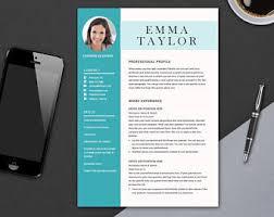 Cv Design Template Modern Resume Template For Ms Word Professional Cv Design Etsy