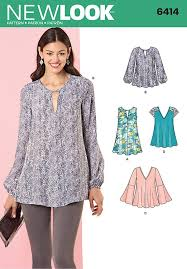 Top Patterns Delectable Misses Tunic And Top With Neckline Variations New Look Sewing