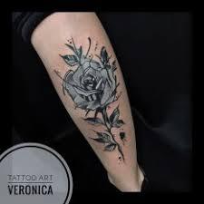 Tetování Růže černobílé