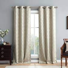 thermal curtain panels grommet kuhlmann lattice geometric blackout thermal grommet curtain panels pictures ideas