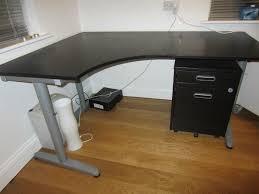 Galant desk ikea Shaped Image Of Black Galant Corner Desk Snapguide Make Galant Corner Desk Paristriptips Design