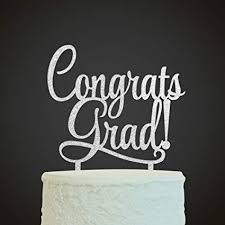 Amazoncom Innoru Congrats Grad Cake Topper 2019 Graduate Party