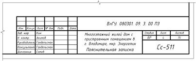 Кафедра Строительное производство Оформление ВКР Пример заполнения основной надписи по форме 5 на заглавном листе содержания пояснительной записки