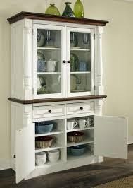 corner hutch cabinet open