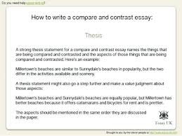 example of a compare contrast essay discreetliasons com comparison contrast essay example paper how to