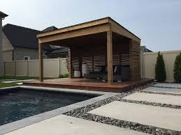 Modern cabanas design pool modern with custom construction timber framing
